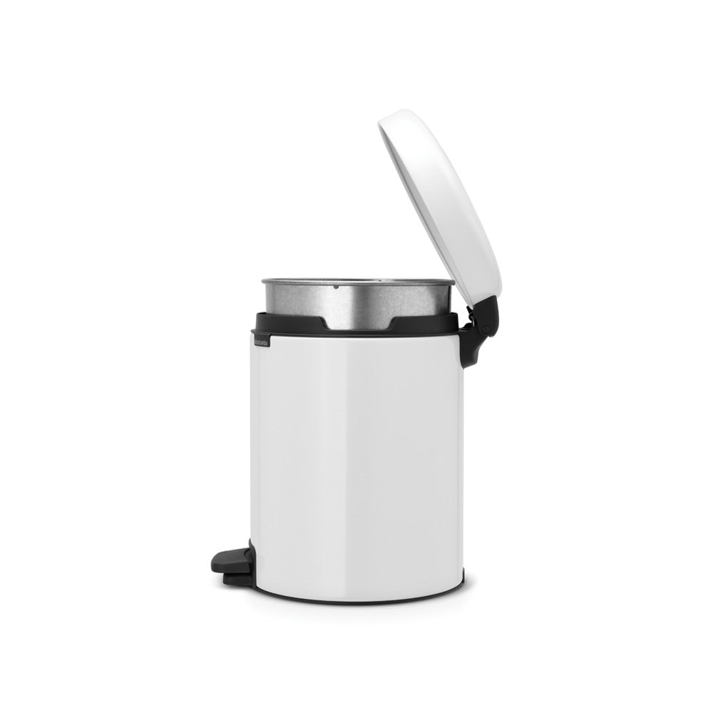 Pedal Bin Newclon 5L White - The Organised Store
