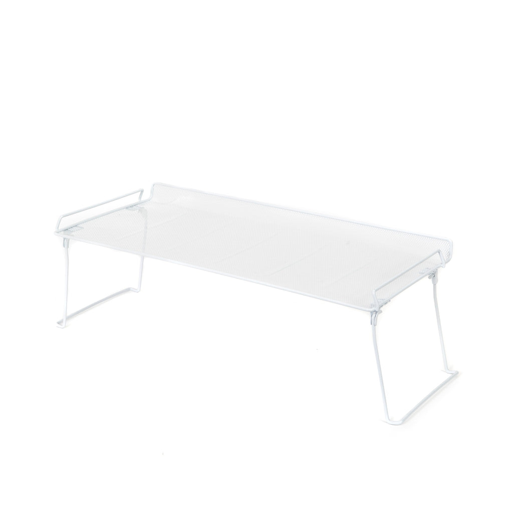Fold and Stack Mesh Shelf- White Large