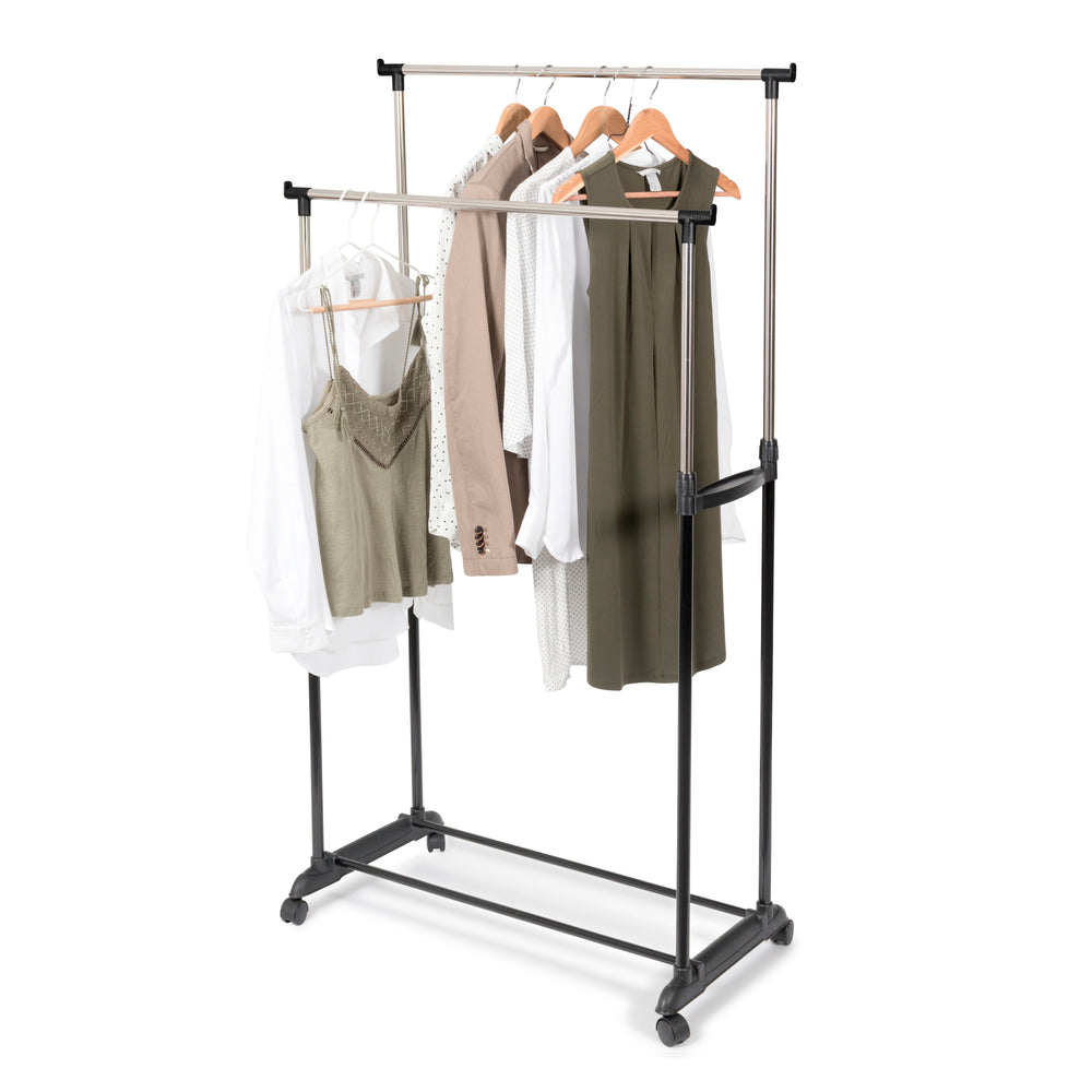 Double Adjustable Clothes Rail