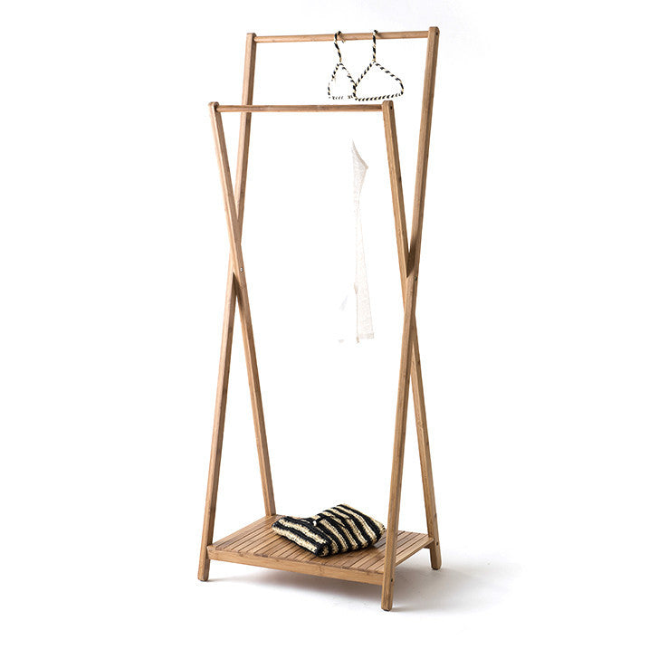 Double Bamboo Clothes Hanger