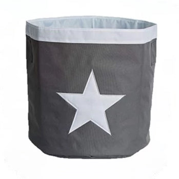 Store Basket Grey White Star - The Organised Store