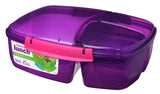 2L Triple Split Lunchbox with Yogurt Pot
