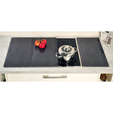 Glass Hob Station 3 Pk Slate