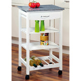Kitchen trolley White Granite - The Organised Store