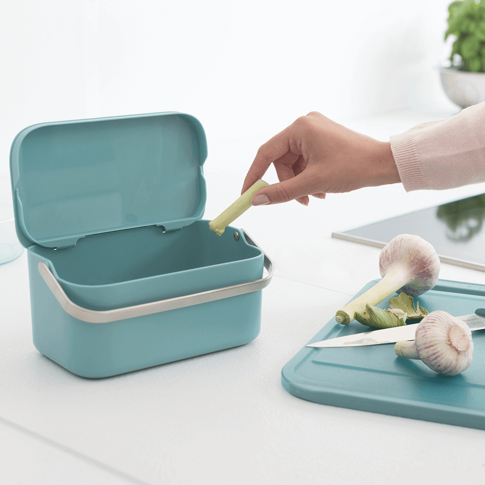 Food Waste Caddy - Mint or Grey