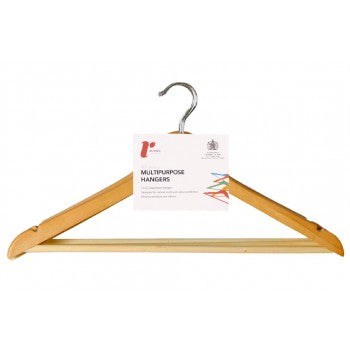 Set of Three Lotus Wood Hangers - The Organised Store