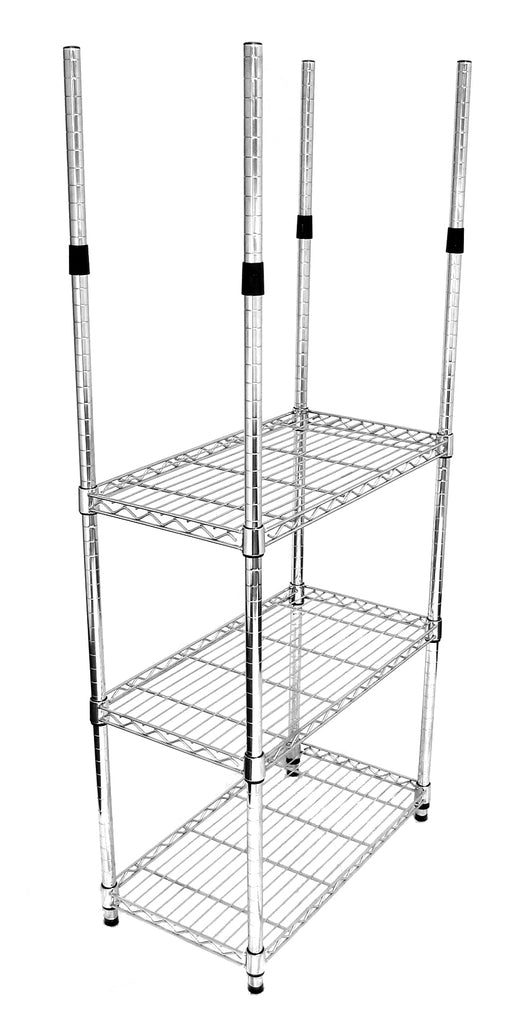 Chrome Poles from Height of 90cm to 220cm - The Organised Store