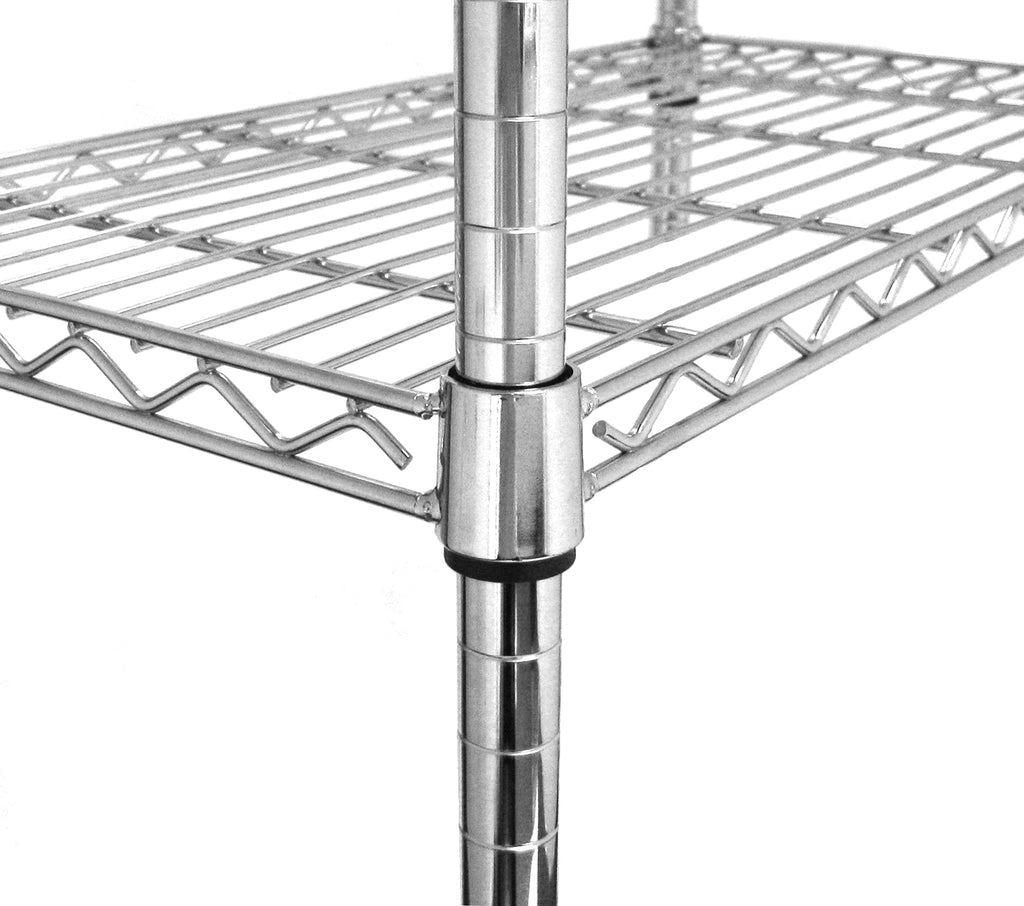 Chrome Poles from Height of 90cm to 220cm