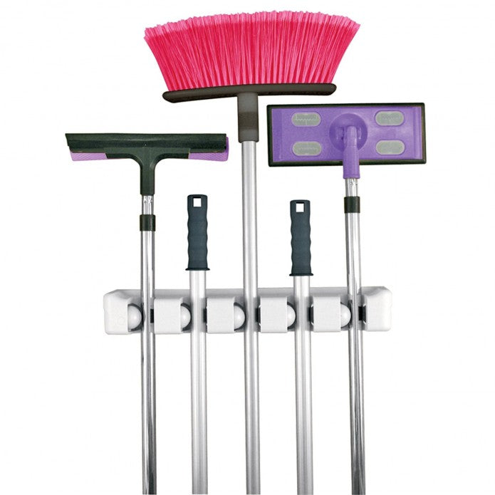 Broom and Mop Magic Holder 5 Position