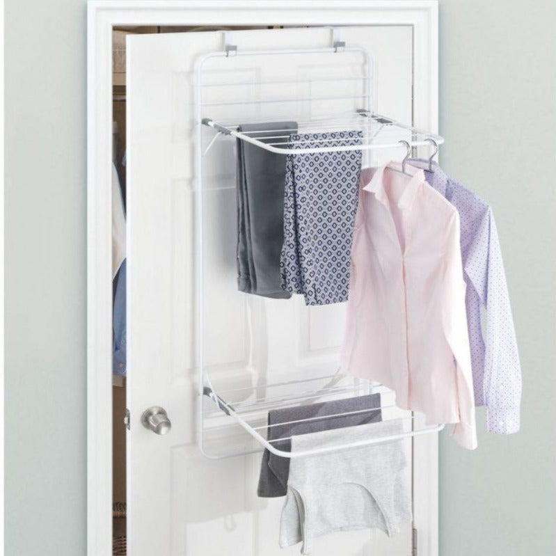 Brezio Over Door Laundry Drying Rack- Double Shelf