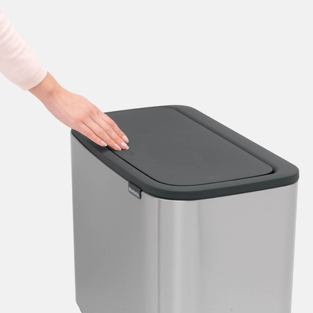 Bo Touch Bin With 1 Inner Bucket 36L Matt Steel