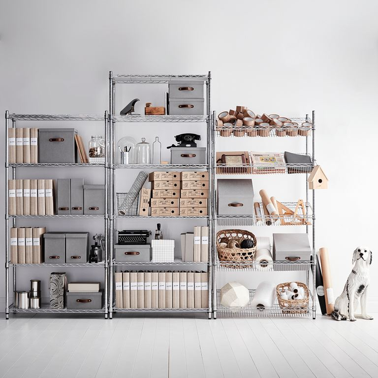 Flexible Chrome Shelving Large - The Organised Store