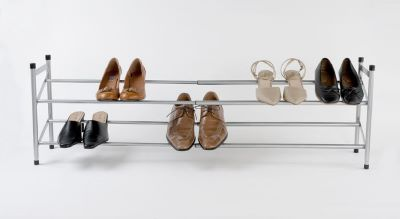 Extendable Shoes Rack Grey - The Organised Store