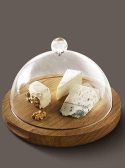 Oak Cheese Board With Dome
