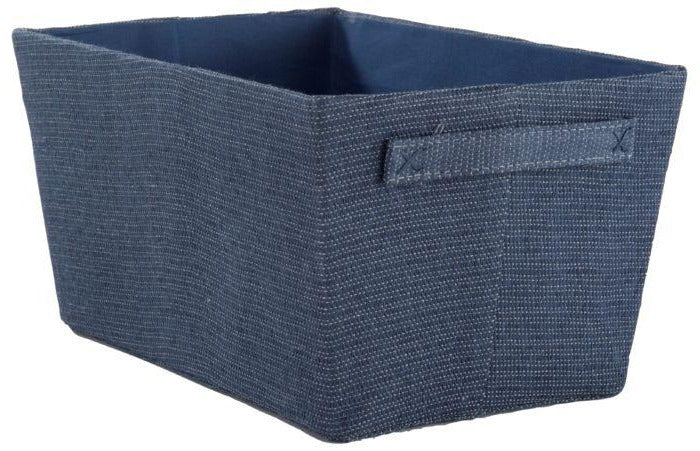 Rio WOVEN STORAGE BASKET - NAVY BLUE - The Organised Store
