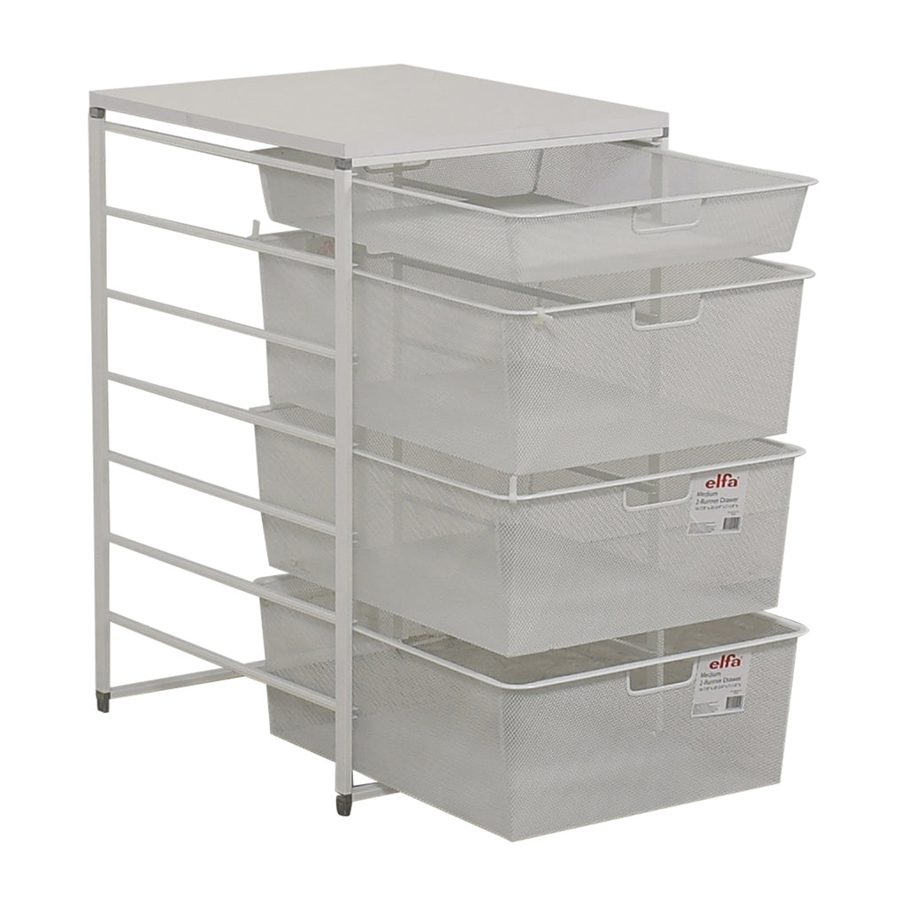 Elfa Freestanding Drawer System -7 Runner /740mm High-Various Sizes