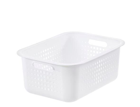 SmartStor Recycled Basket 15 White and Taupe - The Organised Store