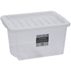 30LT CRYSTAL BOX & LID - CLEAR - The Organised Store