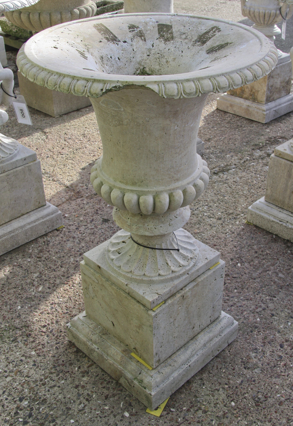 Campana urn & pedestal / travertine 007 - 1142 mm (H)