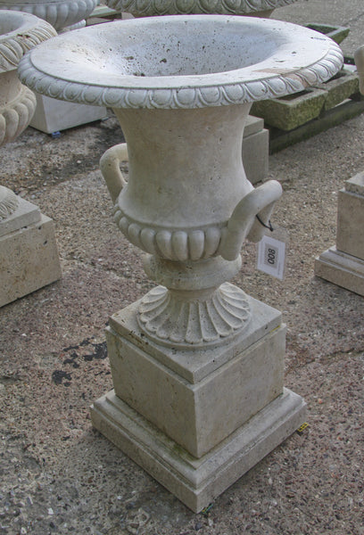 Campana urn & pedestal / travertine 008 - 1142 mm (H)