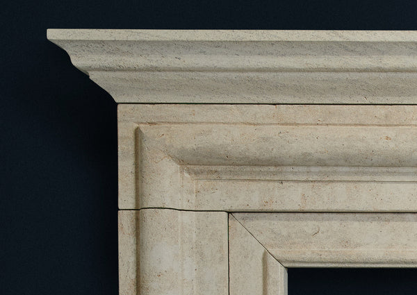 18th Century Bolection in French Limestone smooth finish