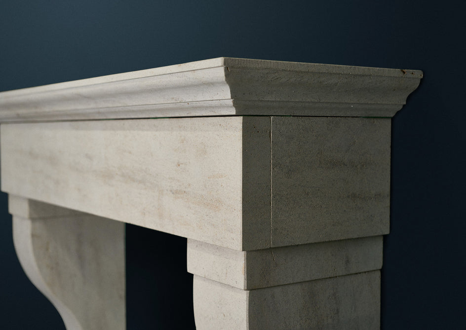 Profile picture of Dordogne limestone fireplace