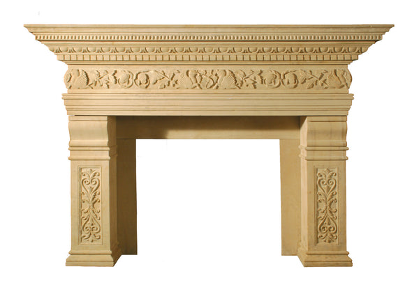 Chanceau Cardinal style fire surround in Limestone