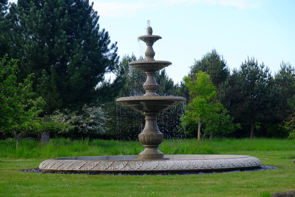 Triple-Tier Fountain & Surround (Sandstone)