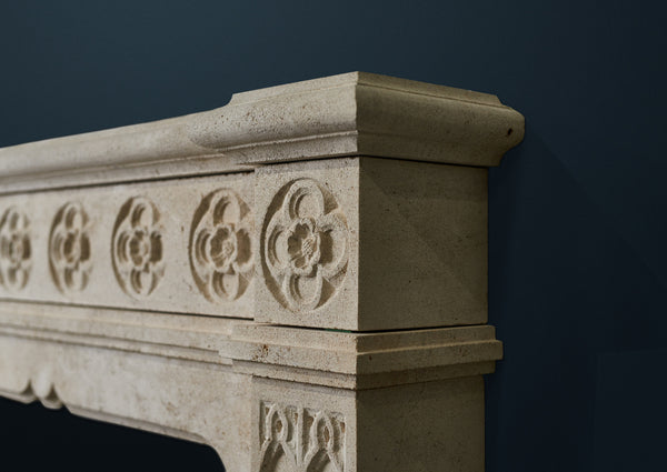 Gothic Rosette fire surround