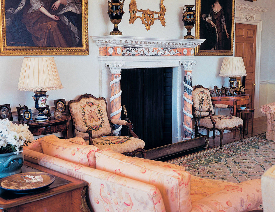 40. Bespoke Grand Palladian Marble Fireplace