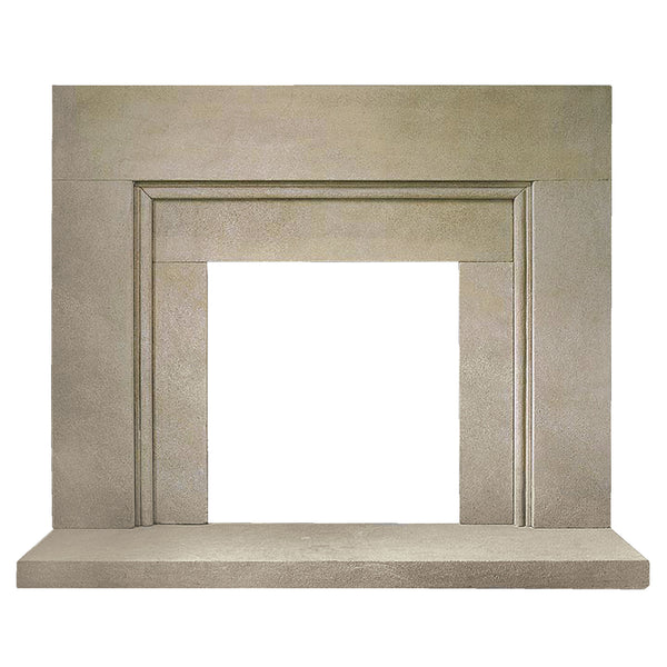 Medina style A size fire surround in sandstone