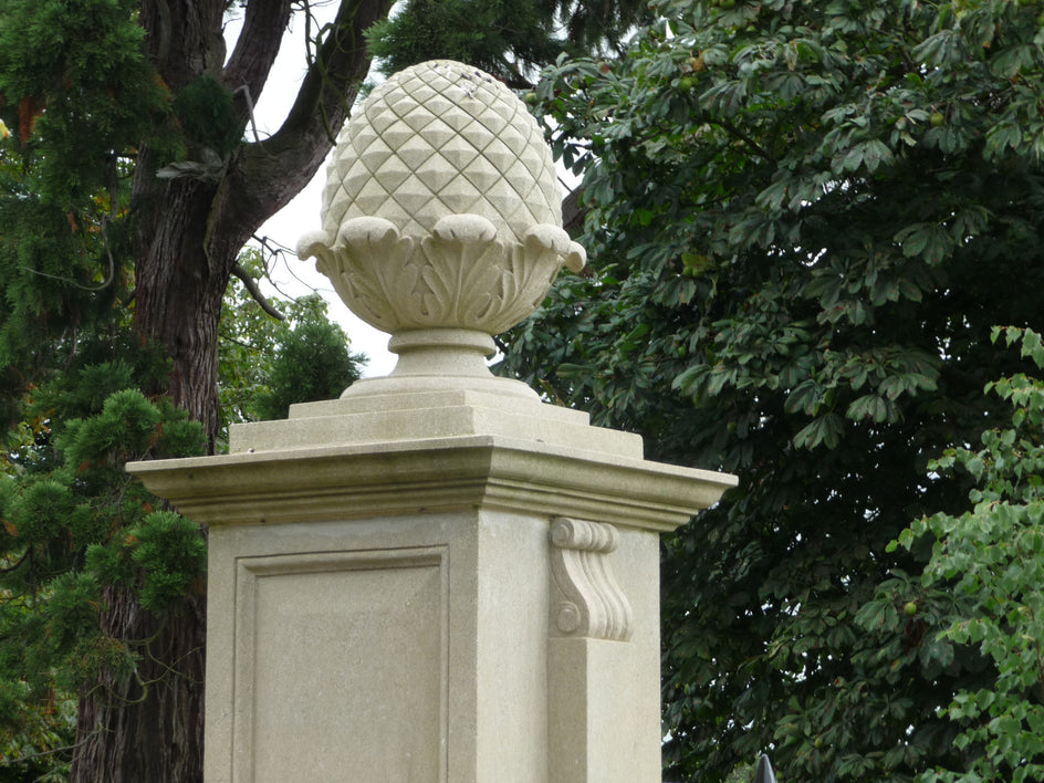 52. Bespoke Stone Pineapple for Entrance Gates