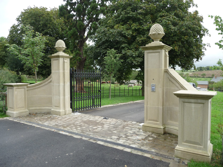 51. Bespoke Pair of Stone Gates