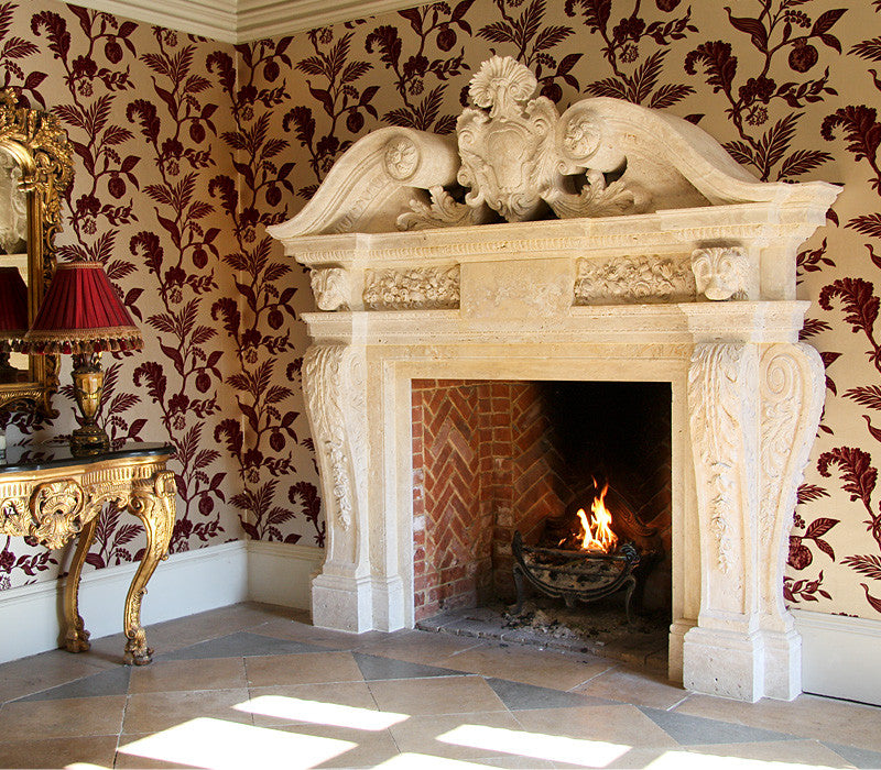 7. Bespoke Travertine Woburn Abbey fireplace