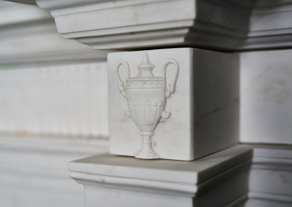 Robert Adam 1656. (Veined White Marble)