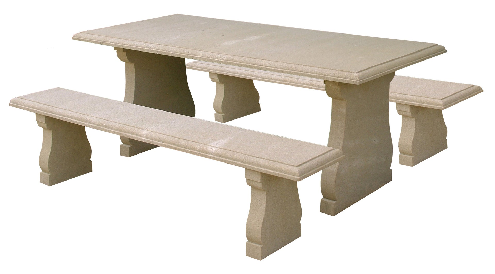 Stone Garden Table & Bench Set - Sandstone - After The Antique, UK