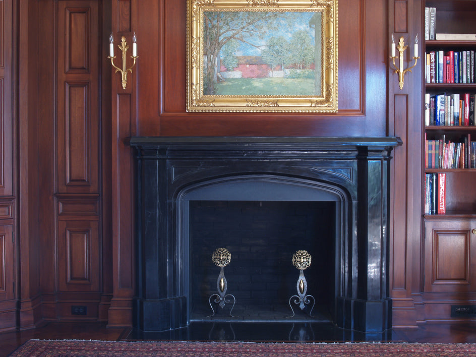 44. Bespoke Black Marble Pugin Fireplace