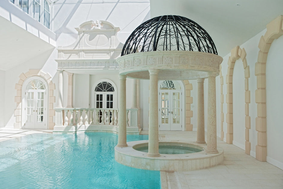 6. Bespoke marble Jacuzzi temple