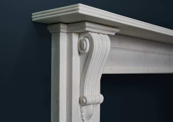 Victorian Classic fire surround in veined white marble