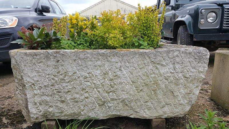 Antique Stone Trough 009.        1200 mm (L)