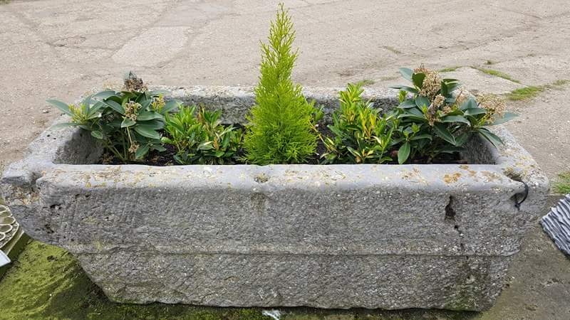 Antique Stone Trough 015.     1180 mm (L)
