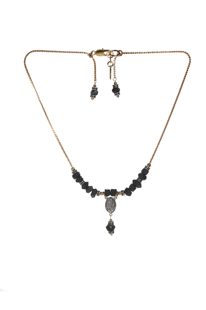 Rhiannon Short Necklace Navy