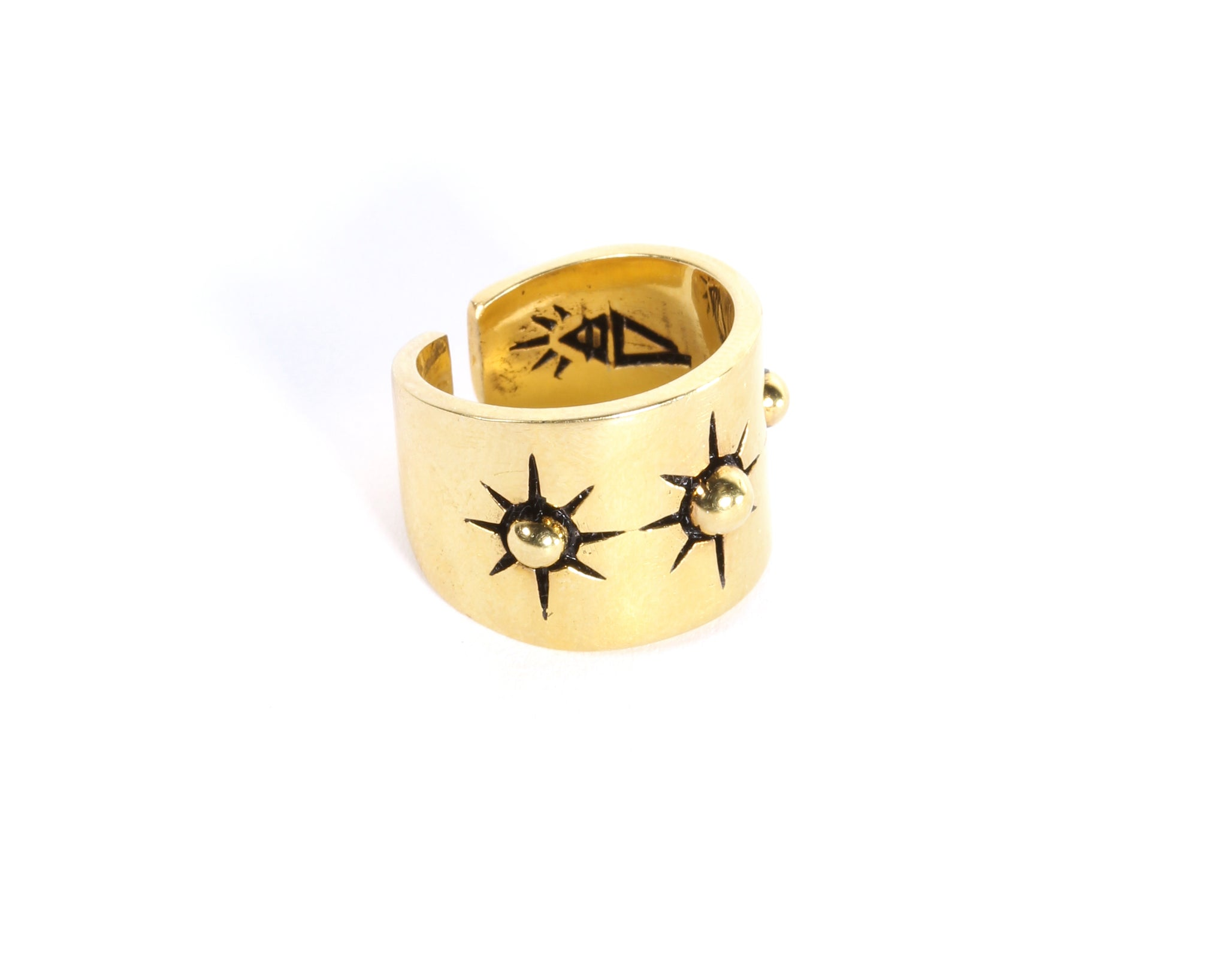 Canadian boho style rings, gold cigar band