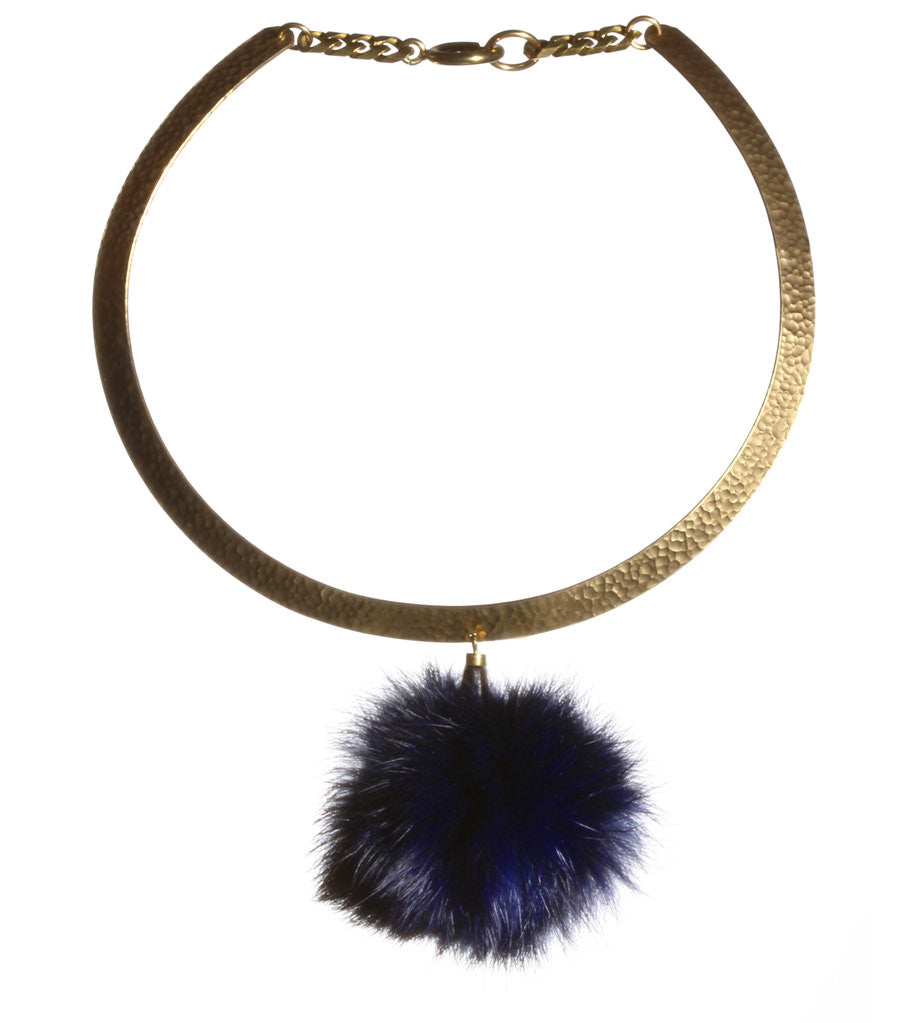 unique handmade jewelry pom necklace