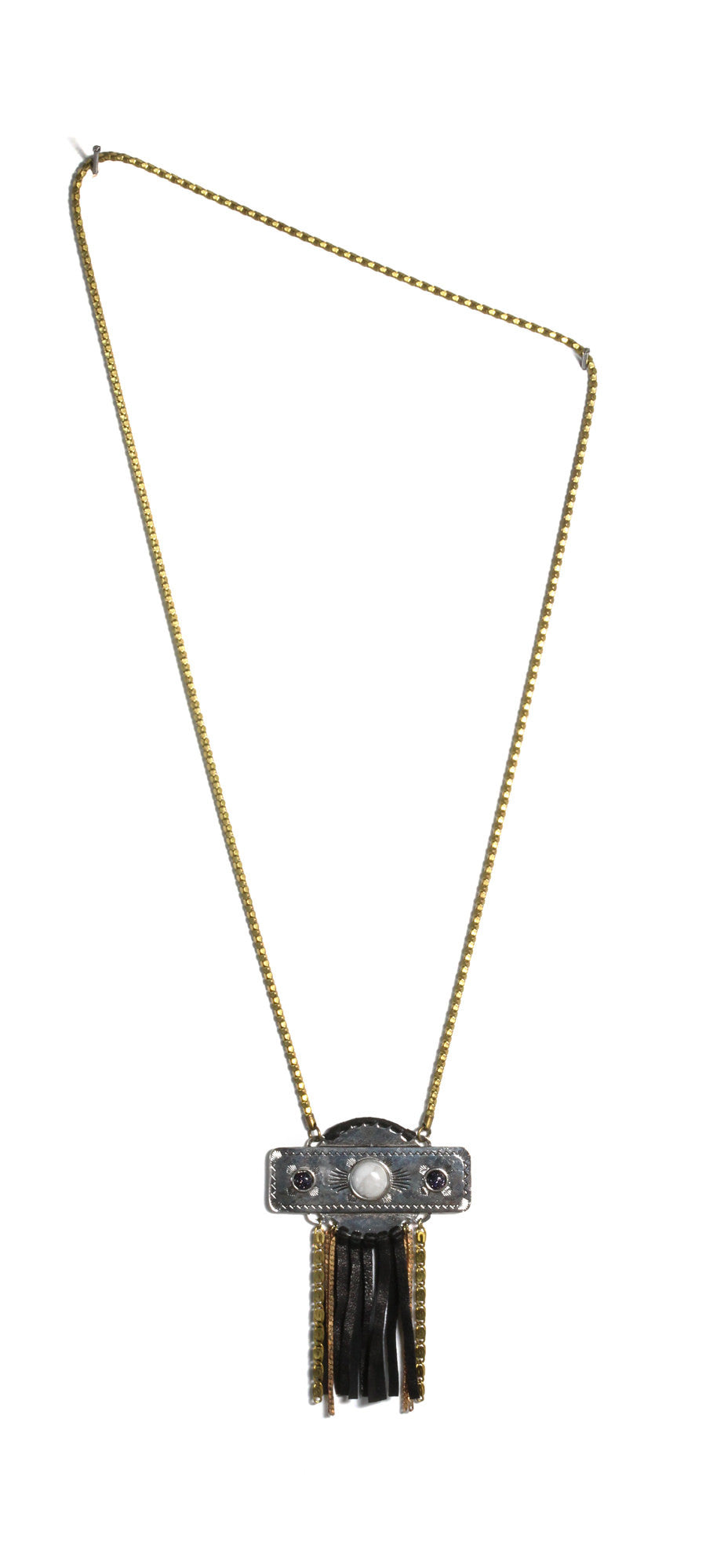 black tassel necklace southwest inspired