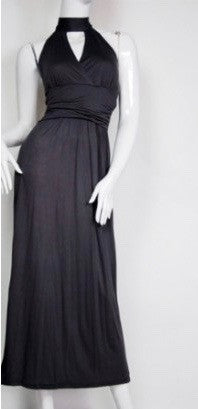Black Maxi Dress with Key Hole Detail