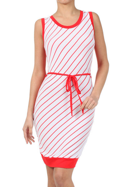 Kandy Kane Striped Color Block Dress