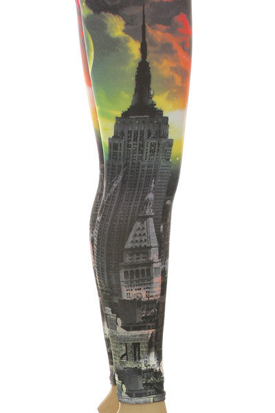 New York Galaxy Neon Leggings