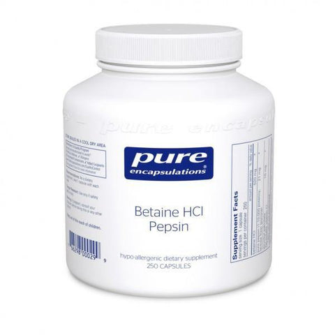 Betaine HCL Pepsin 250 caps Free shipping