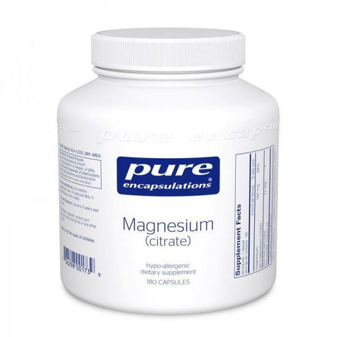 Magnesium Citrate (90 or 180 caps) Free Shipping